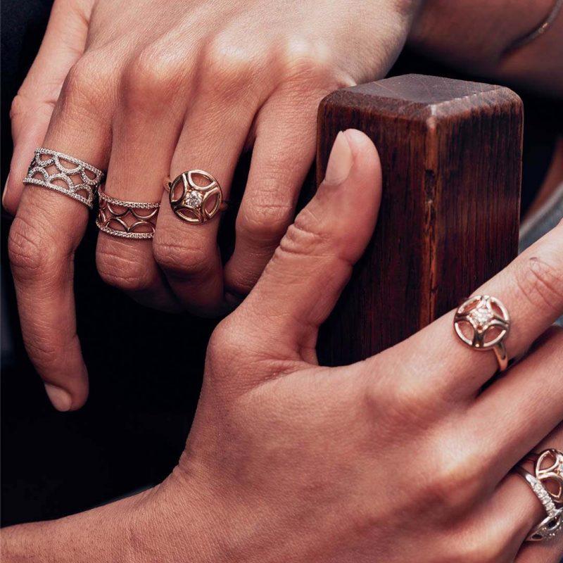 Bague or recyclé diamant synthétique femme bijoux éthiques Loyal.e Paris 1