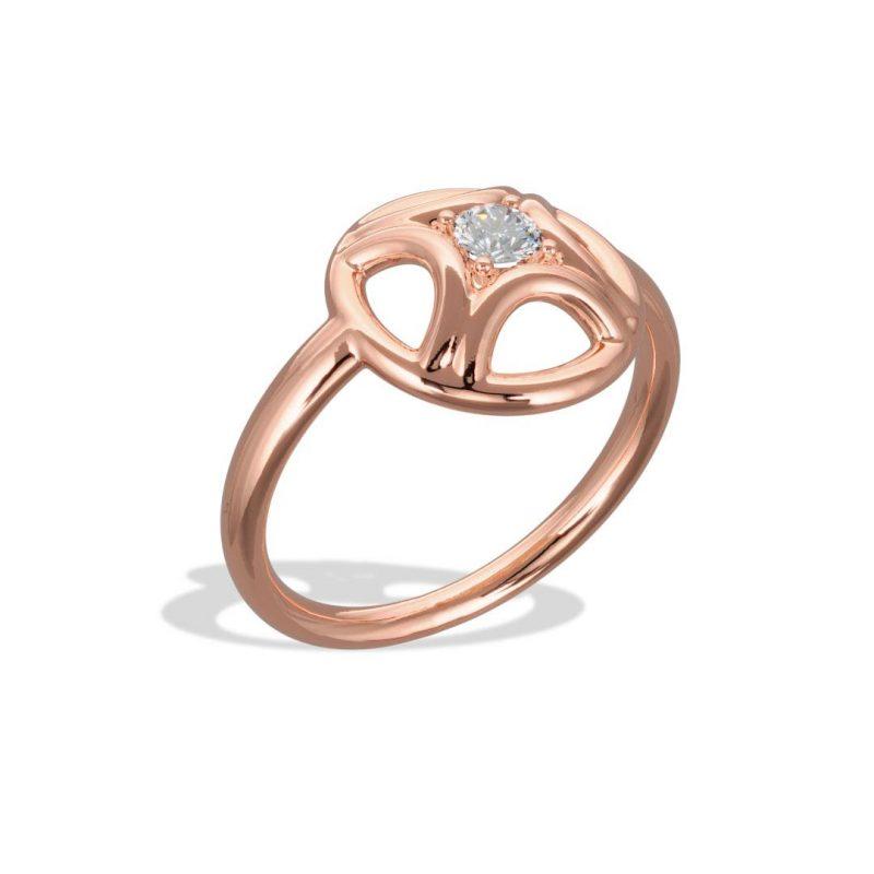 Ring rose gold lab grown diamond 0.25 Perpétuel.le Loyal.e Paris 2