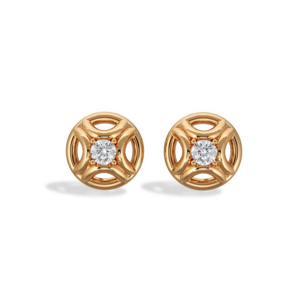 Boucles d'oreilles or jaune diamant synthèse 0.25 Perpétuel.le Loyal.e Paris 1