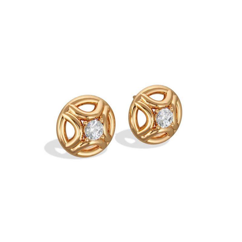 Boucles d'oreilles or jaune diamant synthèse 0.25 Perpétuel.le Loyal.e Paris 2