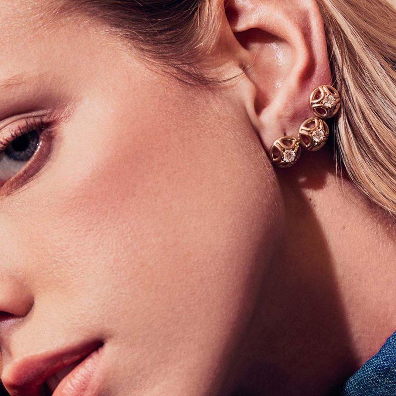 Boucles d'oreilles or recyclé diamant synthétique femme bijoux éthiques Loyal.e Paris 5