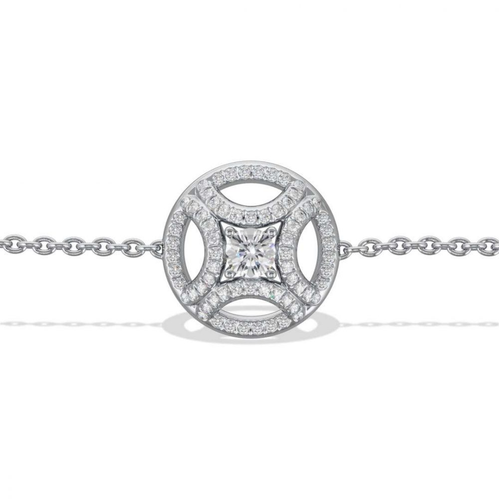 Bracelet or blanc diamant synthèse 0.25 pavé Perpétuel.le Loyal.e Paris 1