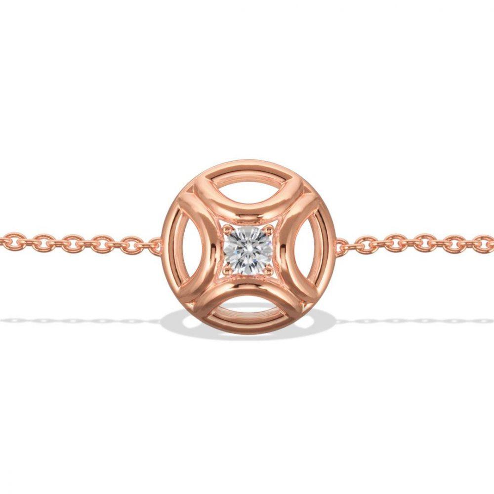 Bracelet or rose diamant synthèse 0.25 Perpétuel.le Loyal.e Paris 1
