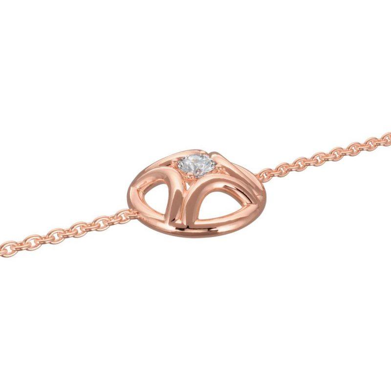 Bracelet or rose diamant synthèse 0.25 Perpétuel.le Loyal.e Paris 2