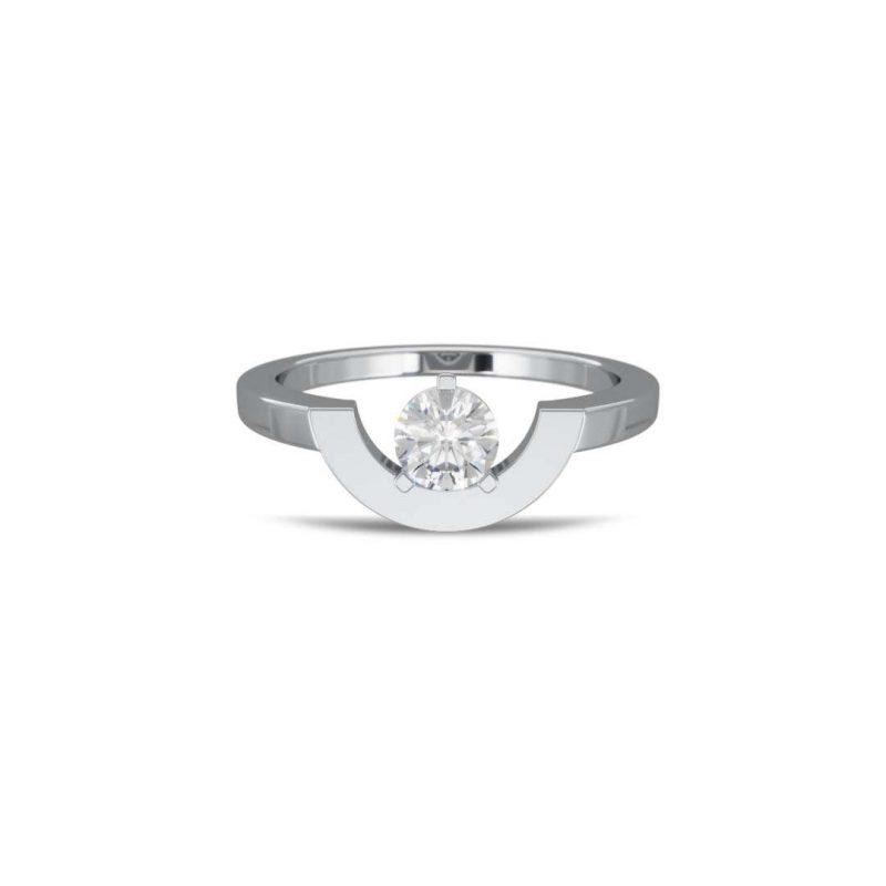 Ring white gold lab grown diamond 0.5 petit arc Intrépide Loyal.e Paris 1