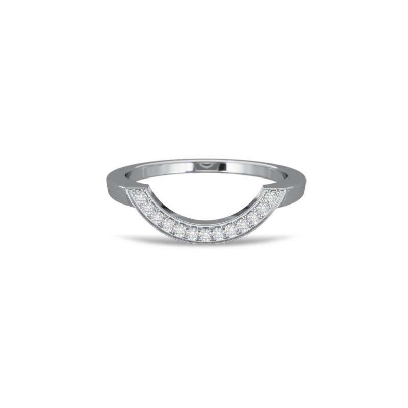 Bague or blanc diamant synthèse pavé grand arc Intrépide Loyal.e Paris 1