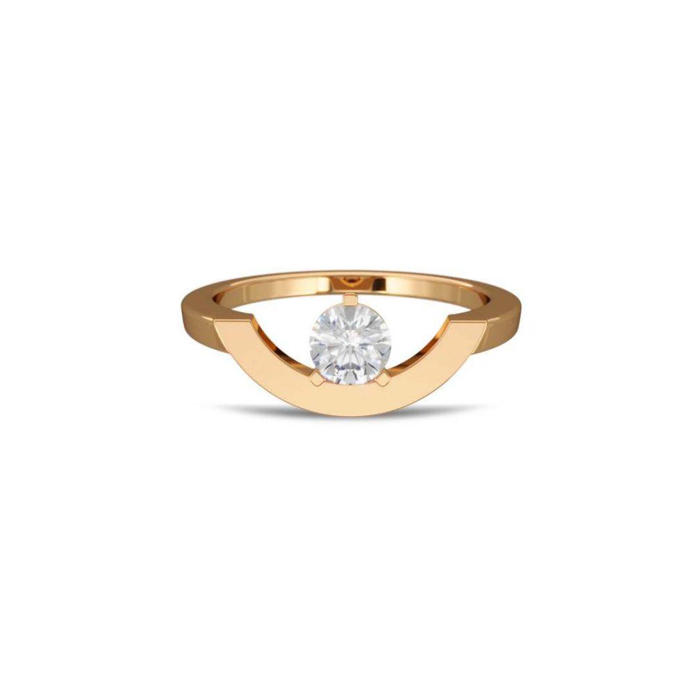 Bague or jaune diamant synthèse 0.5 grand arc Intrépide Loyal.e Paris 1