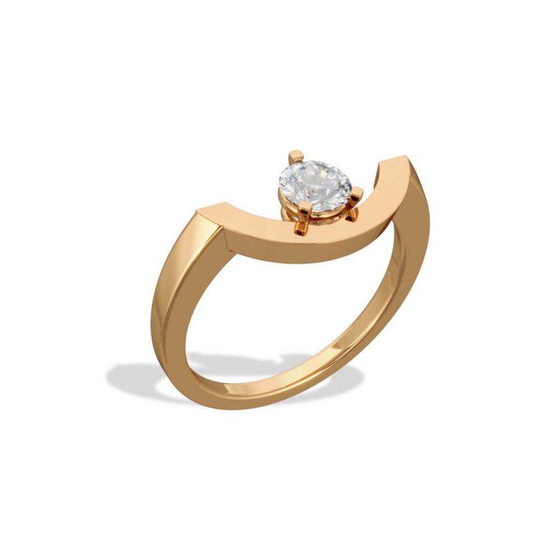 Bague or jaune diamant synthèse 0.5 grand arc Intrépide Loyal.e Paris 2