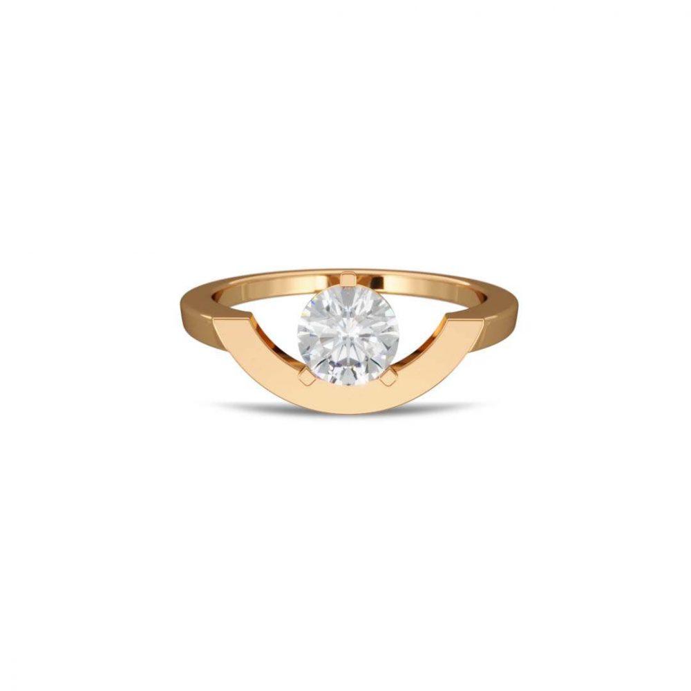Bague or jaune diamant synthèse 1 grand arc Intrépide Loyal.e Paris 1