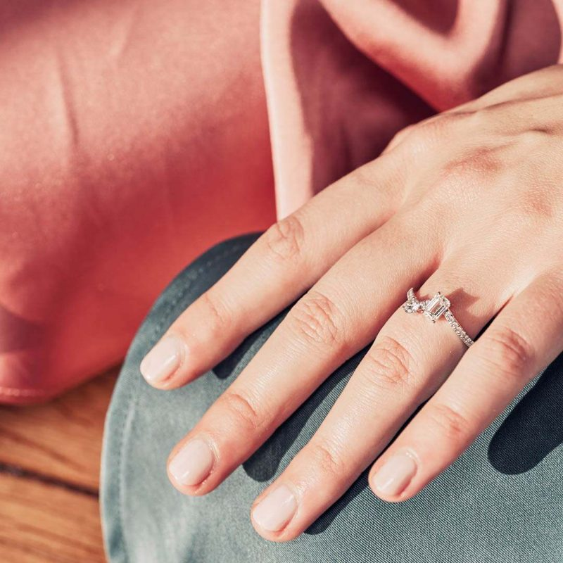 Ring recycled gold lab grown diamond women ethical jewelry Loyal.e Paris 2