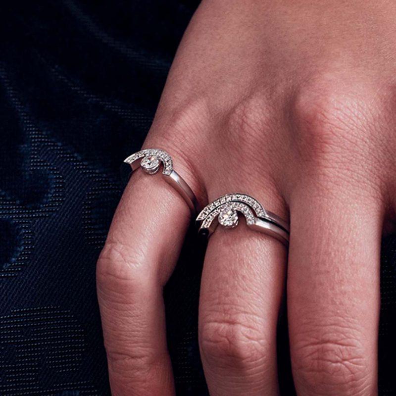 Bague or recyclé diamant synthétique femme bijoux éthiques Loyal.e Paris 24