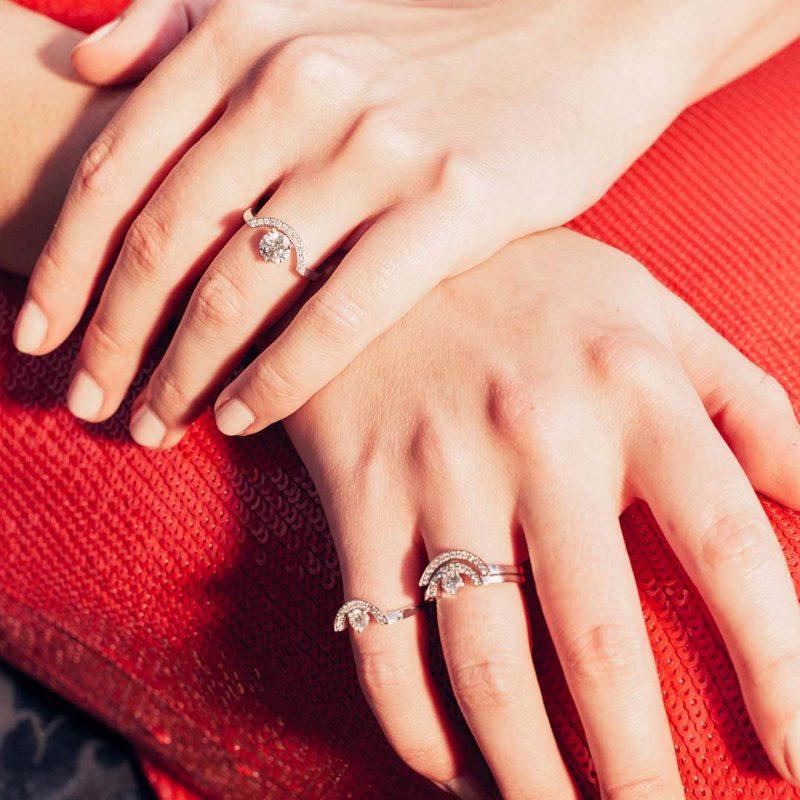 Bague or recyclé diamant synthétique femme bijoux éthiques Loyal.e Paris 4