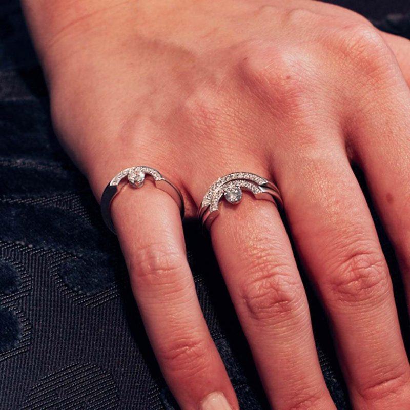 Bague or recyclé diamant synthétique femme bijoux éthiques Loyal.e Paris 8