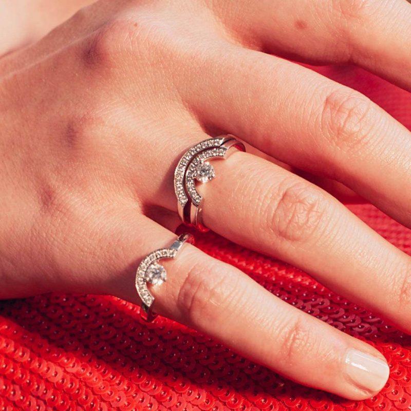 Bague or recyclé diamant synthétique femme bijoux éthiques Loyal.e Paris 9