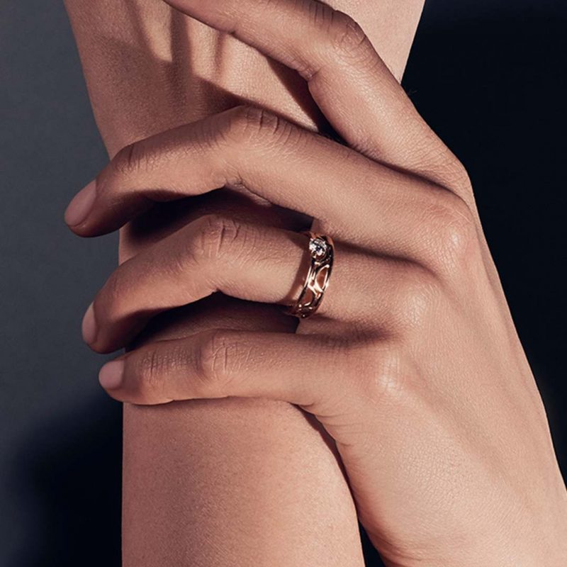 Ring recycled gold lab grown diamond women ethical jewelry Loyal.e Paris 1