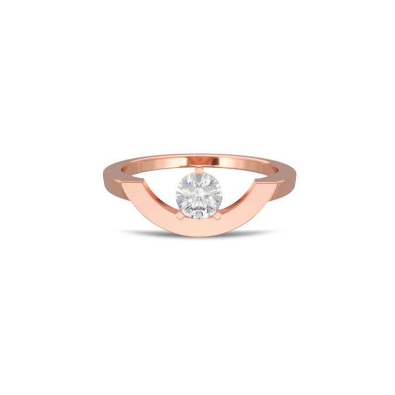 Ring rose gold lab grown diamond 0.5 grand arc Intrépide Loyal.e Paris 1