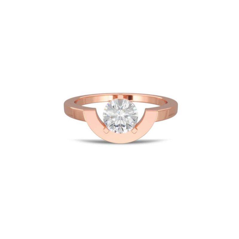 Ring rose gold lab grown diamond 1 petit arc Intrépide Loyal.e Paris 1