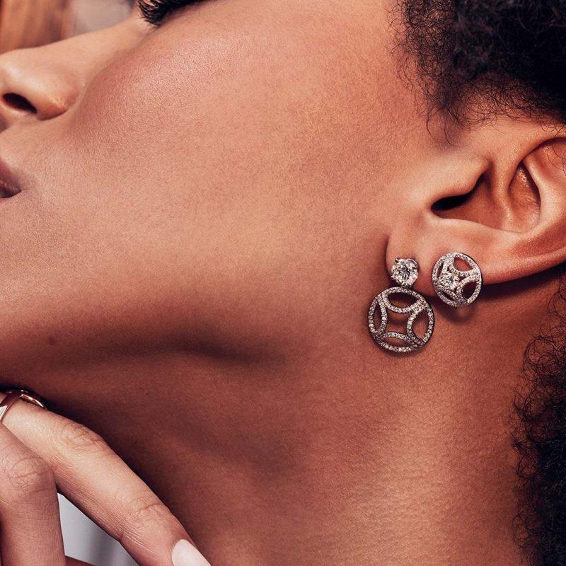 Boucles d'oreilles or recyclé diamant synthétique femme bijoux éthiques Loyal.e Paris 4