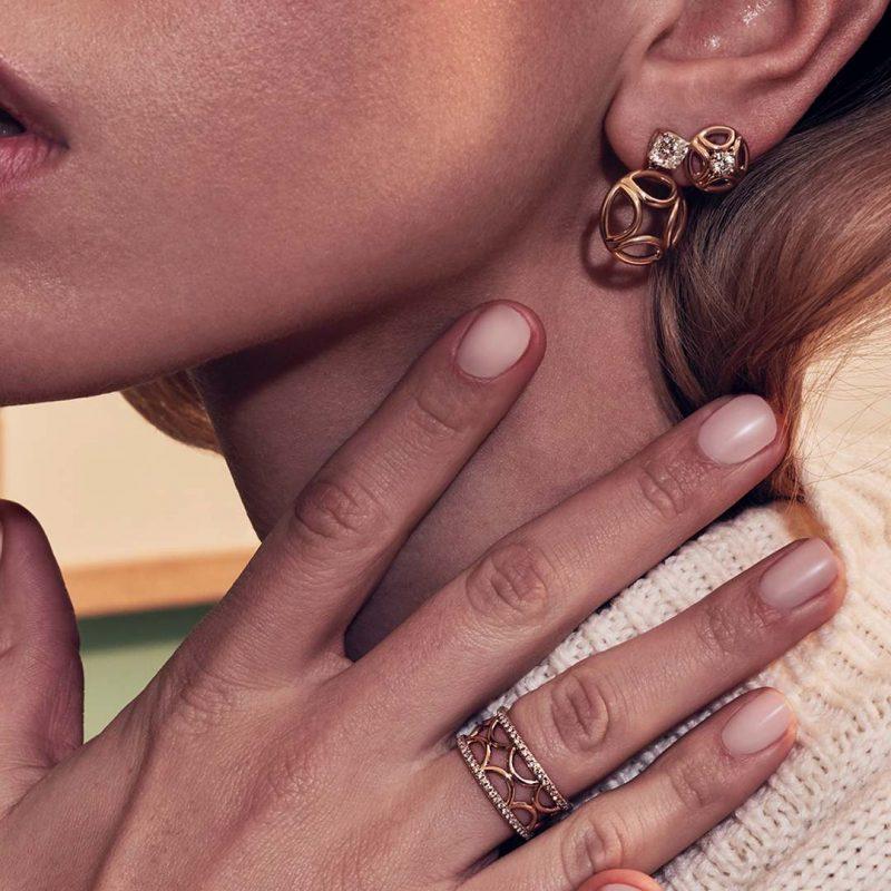 Boucles d'oreilles or recyclé diamant synthétique femme bijoux éthiques Loyal.e Paris 7