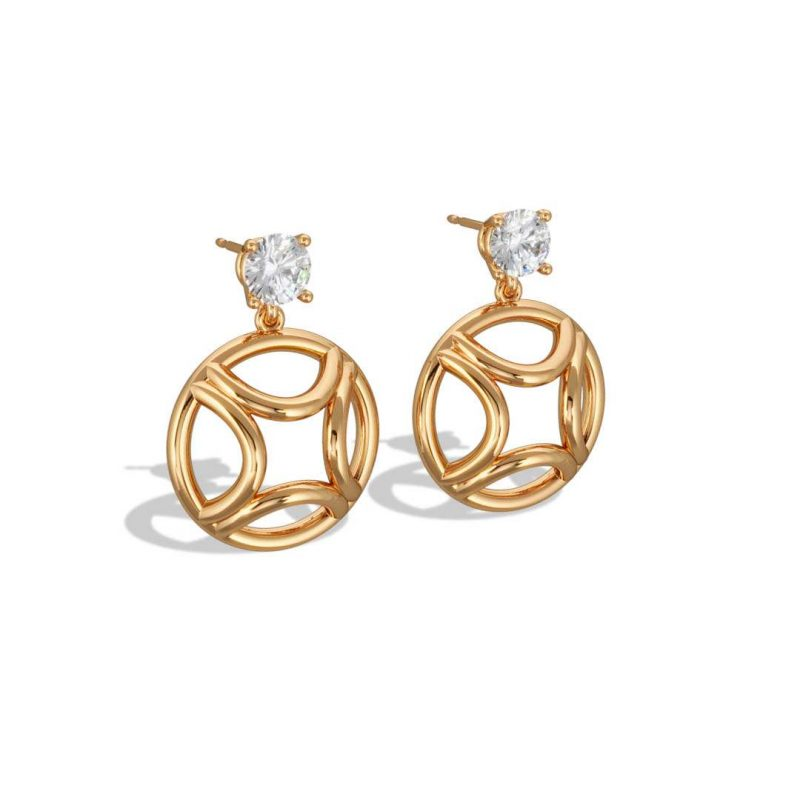 Boucles d'oreilles pendant or jaune diamant synthèse 0.5 brillant Perpétuel.le Loyal.e Paris 2