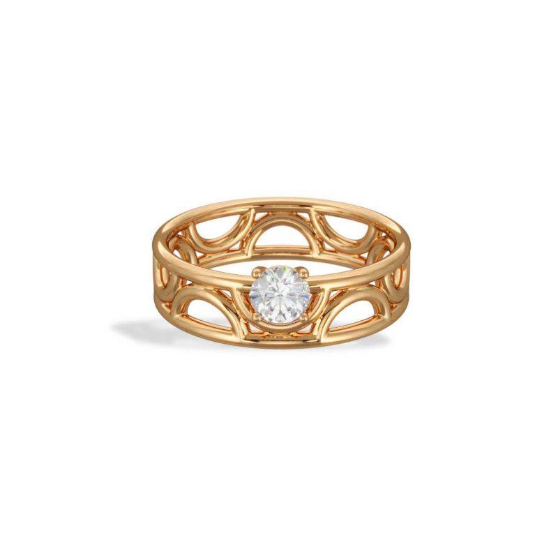 Engagement ring yellow gold lab grown diamond 0.25 Amour Perpétuel Loyal.e Paris 1
