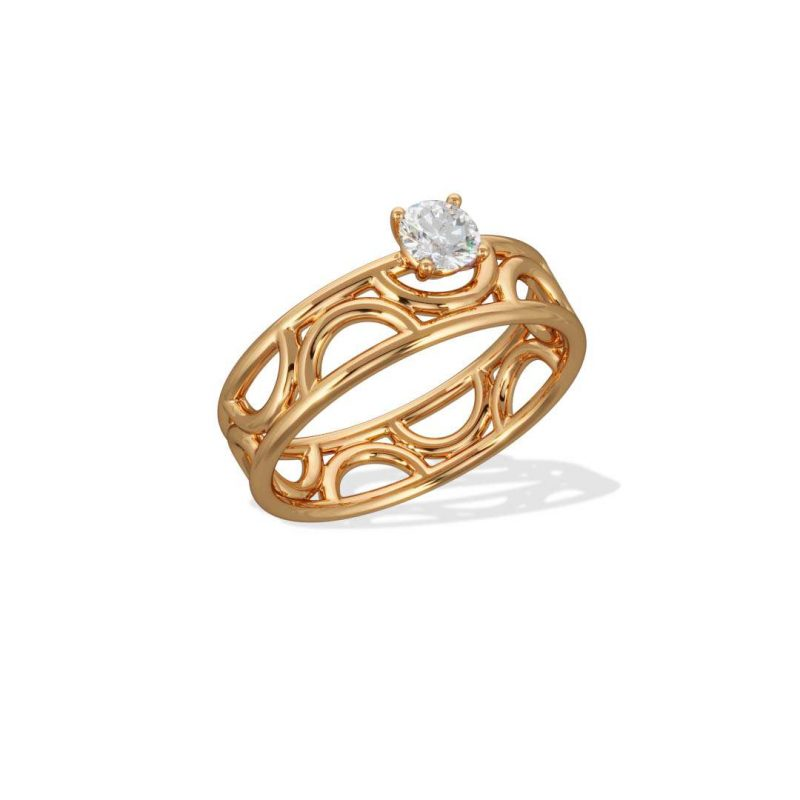 Engagement ring yellow gold lab grown diamond 0.25 Amour Perpétuel Loyal.e Paris 2