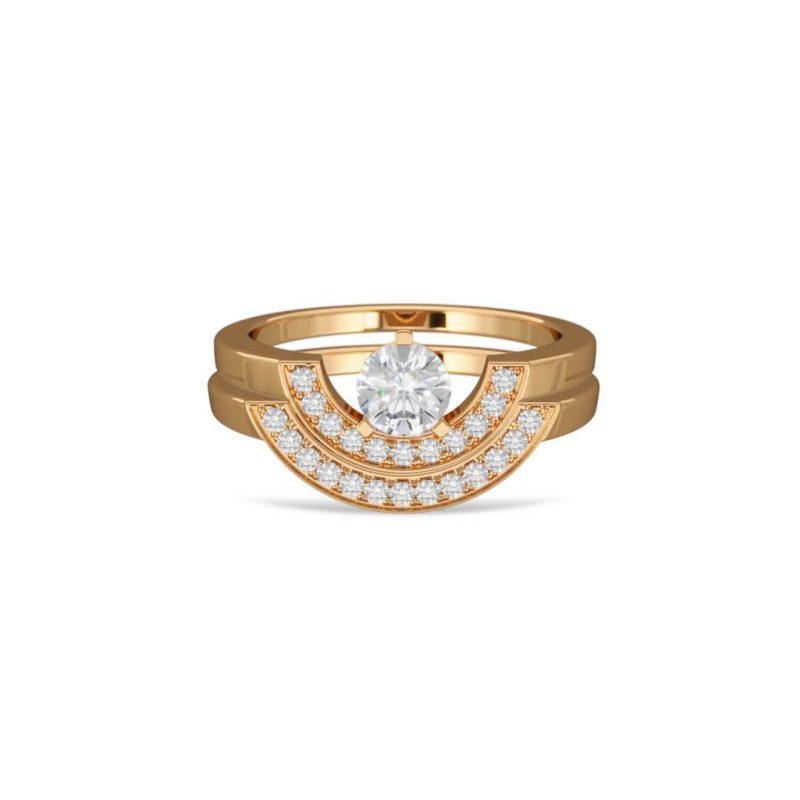 Bagues stacking or jaune diamant synthèse 0.5 pavé or jaune pavé Intrépide Loyal.e Paris 1