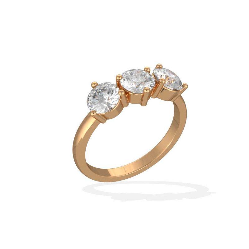 Solitaire Encore Plus yellow gold lab grown diamond 0.5 Les Absolu.e.s 2 Loyal.e Paris